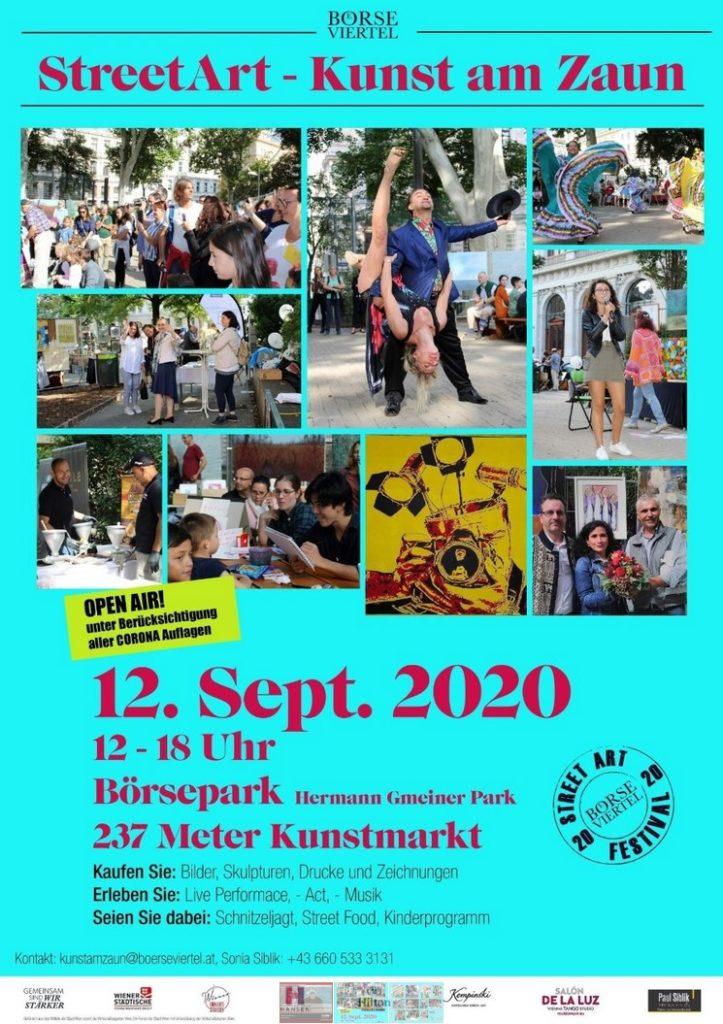 Kunst am Zaun am 12.09.2020 im Hermann Gmeiner Park